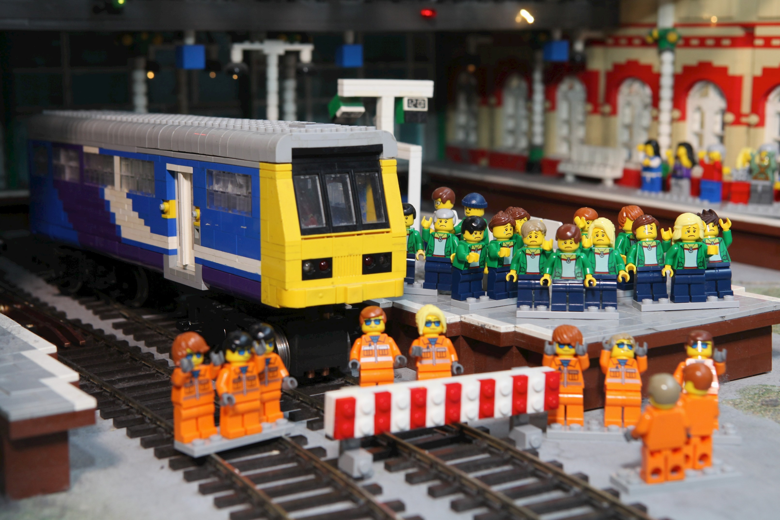 Legoland Discovery Centre Manchester stripped out Northern Rail from Lego built dediction of city, Mini Land.jpg